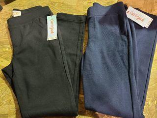 Cat   Jack Girls Size 10 12 Uniform Stretch Pants   set of 2