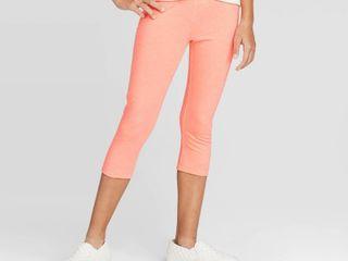 Girls  Capri leggings   Cat   Jack Neon Peach Xl  Neon Pink Set of 2