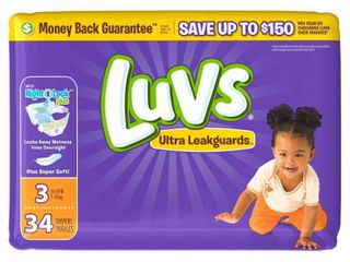 luvs Disposable Diapers Jumbo Pack   Size 3  34ct    set of 2