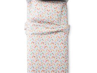 Mermaids Sheet Set  Twin  Multicolor   Pillowfort  Gray Purple Yellow