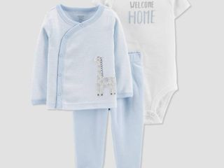 Baby Boys  layette sets   Just One You made by carter s light Blue 3M