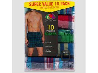 Fruit of the loom Men s 5 5 Super Value Pack Tartan Boxers   S