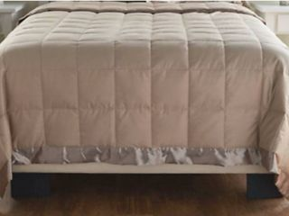 Northern Nights 400TC Cotton European 600 Fill Power Blanket Taupe Queen