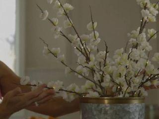 Bethlehem ligjts set of 2 Illuminated Spring Ivory Blossom Branches