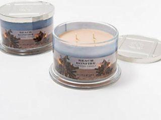 HomeWorx by Harry Slatkin Set of 2 Beach Bonfire 4 wick candles