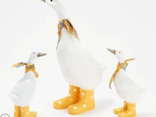 2 Piece Momma Duck and Ducklings in Rain Boots by Valerie