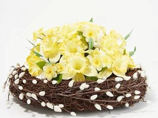 Martha Stewart Daffodil and Pussy Willow Nest Centerpiece