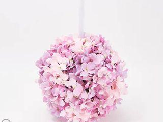 Wicker Park 13  Faux Floral Indoor Outdoor Hydrangea Sphere