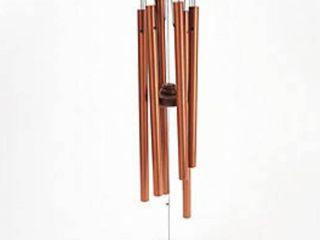 Michael Vignoles Wood and Steel Shamrock Wind Chimes