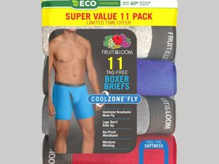 Fruit of the loom Men s 5 6 Super Value Pack Coolzone Boxer Briefs   S
