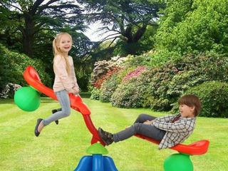 Kids Teeter Totter Home Seesaw 360 Degree Swivel Rotating  Retail 77 48