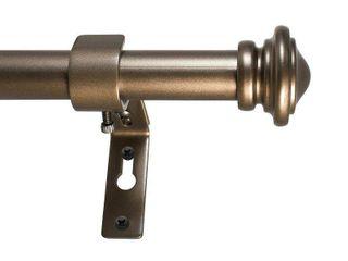 Decopolitan Cap Single Telescoping Drapery Rod Set  72 to 144 inches  Bronze