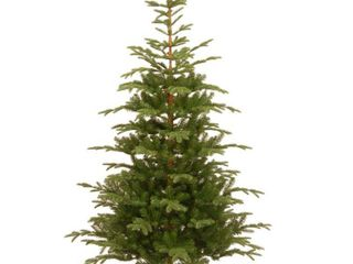 National Tree Company  Feel Real  Artificial Christmas Norwegian Spruce Tree 7 5 ft