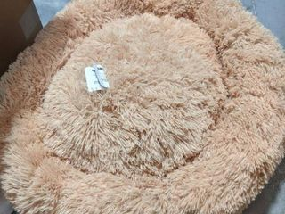 PUPPBUDD Calming Dog Bed Cat Bed Donut  Faux Fur Pet Bed Self Warming Donut Cuddler  Comfortable Round Plush Dog Beds for large Medium Dogs and Cats  24 32 36