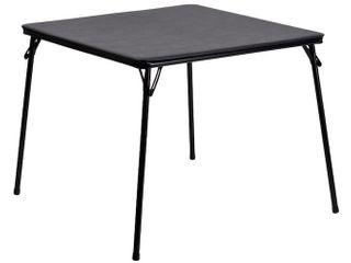 Flash Furniture Folding Card Table  Black