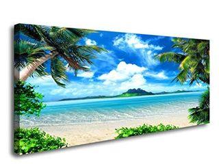 S72750 Canvas Wall Art Ocean Waves Coconut Trees