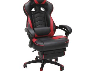 RESPAWN 110 Racing Style Gaming Chair  Reclining Ergonomic leather Chair with Footrest  in Red  RSP 110 RED