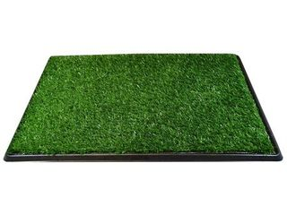 Downtown Pet Supply Dog Pee Potty Pad  Bathroom Tinkle Artificial Grass Turf  Portable Potty Trainer  20 x 30 Inch   3 layers
