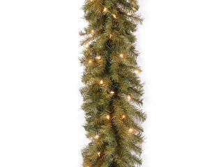 National Tree Company Norwood Fir 9 ft  Prelit Garland