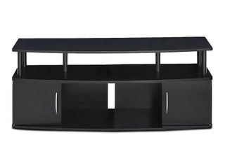 Furinno JAYA large Entertainment Center Hold up to 50 IN TV  15113BKW