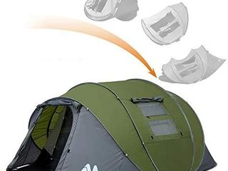 ayamaya Pop Up Tents with Vestibule for 4 6 Person   Double layer Waterproof Easy Setup Family Camping Tent Big Enough for 2 6 People   Ventilated Mesh Windows Dome Tents Outdoor Gifts for Men Women