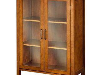 Elegant Home Fashions Two Door Floor Cabinet in Russet Brown