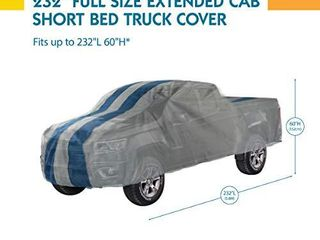 Duck Covers Rally X Defender Truck Cover  For Extended Cab Short Bed Trucks up to 19 ft  4 in  l
