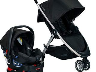 BRITAX B lively Travel System with B Safe 35 Infant Car Seat   One Hand Fold Xl Storage Ventilated Canopy  Raven  S05588500