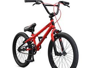 Mongoose legion lSX Freestyle Sidewalk BMX Bike for Kids   Children and Beginner level to Advanced Riders  20 inch Wheels  Hi Ten Steel Frame  Micro Drive 25x9T BMX Gearing  Red  M51809M50OS PC