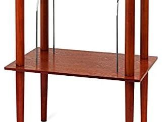 Victrola Wooden Stand for Wooden Music Centers with Record Holder Shelf  Mahogany