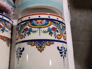 euro ceramica zanzibar collection kitchen canisters