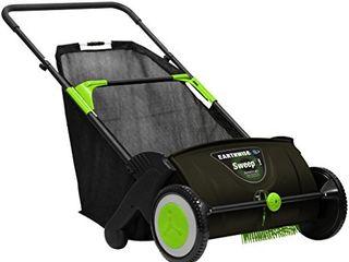 Earthwise lSW70021 21 Inch leaf   Grass Push lawn Sweeper  Width  Black