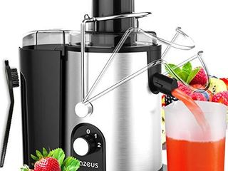 Unique Version  AZEUS Centrifugal Juicer Machines  Juice Extractor with Germany Made 163 Chopping Blades  Titanium Reinforced    2 layer Centrifugal Bowl  High Juice Yield  Easy to Clean  Anti Drip 100  BPA Free  ETl listed  Catcher   Brush Included