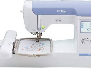 Brother PE800 Embroidery Machine  138 Built in Designs  5  x 7  Hoop Area  large 3 2  lCD Touchscreen  USB Port  11 Font Styles