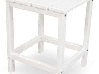 POlYWOOD ECT18WH long Island 18  Side Table  White