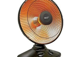 CCC Comfort Zone CZ998 Oscillating  Electric Wire Element Dish Heater  PARABOlIC Radiant  Black