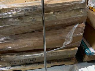 Amazonbasics Tension Shower Doorway Curtain Rod  137 1   228 6 Cm  Chrome