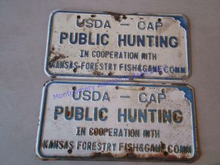 PUBlIC HUNTING METAl SIGNS