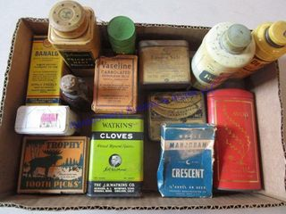ADVERTISING TINS   BOXES