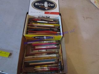 WHITE OWl CIGAR BOX OF PENCIlS