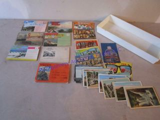 VINTAGE TRAVEl POST CARDS  PlACES