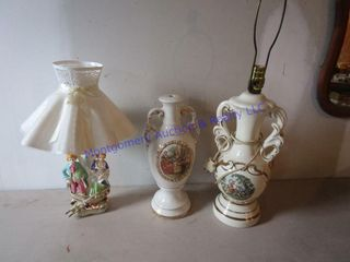 3 ORNATE lAMPS