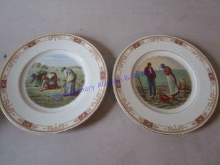 HARVEST SCENE DECORATOR PlATES