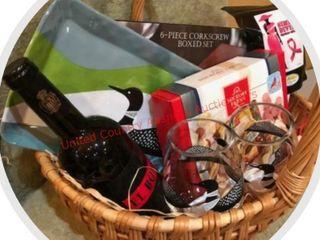 Minnesota loon Wine Theme Basket