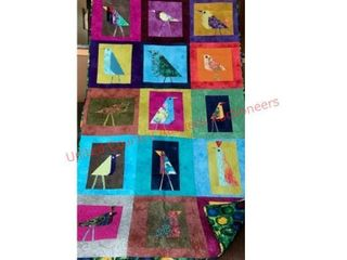 Artisan Birds Funky Flock Quilt