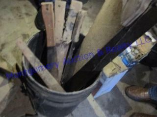 BUCKET AND SAWS