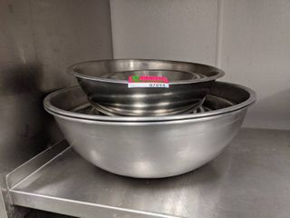Assorted Sized Stainless Steel Bowls
