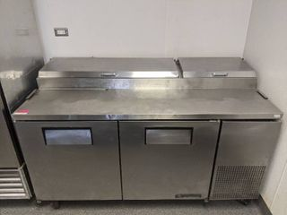 True Refrigerator Stainless Steel Refrigerated Prep Table TPP 67