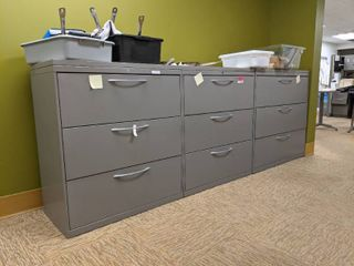 3  File Cabinets With Contents