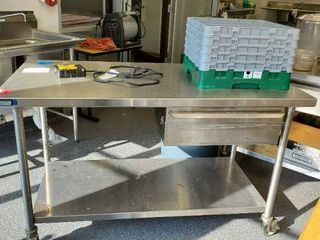 5ft Stainless Prep Table With Drawer